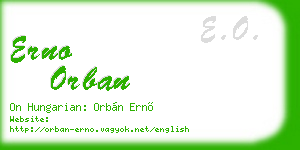 erno orban business card